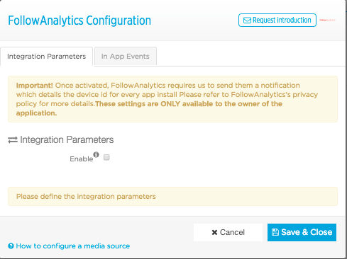 Configure FollowAnalytics